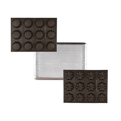 Picture of FLUTED TRAY, PETAL TRAY & MEDIUM PERFORATED BAKING SHEET